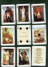 Collatable  playing cards Jeu Napoleon 1st 1970`s by Dusserre